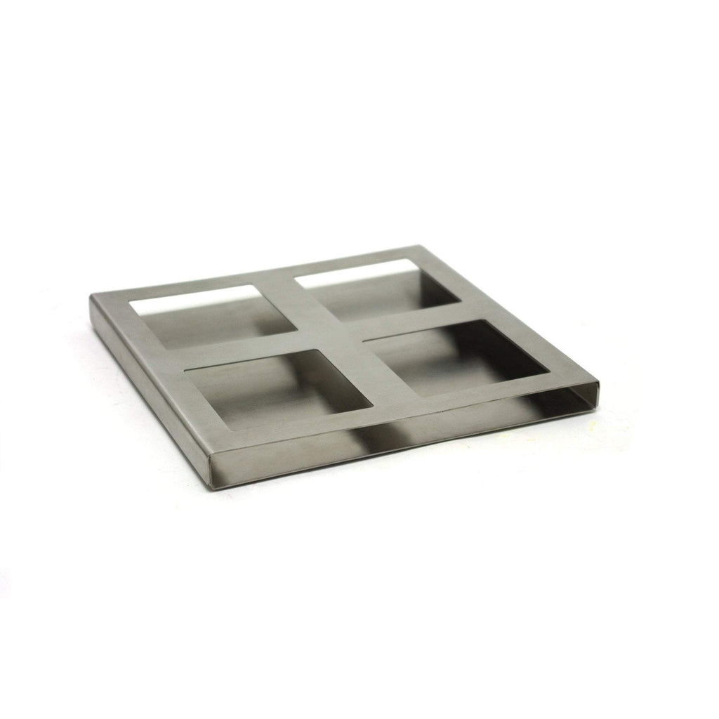 Trays & Dish Holders FOH Stainless Steel Dish Holder / Quad