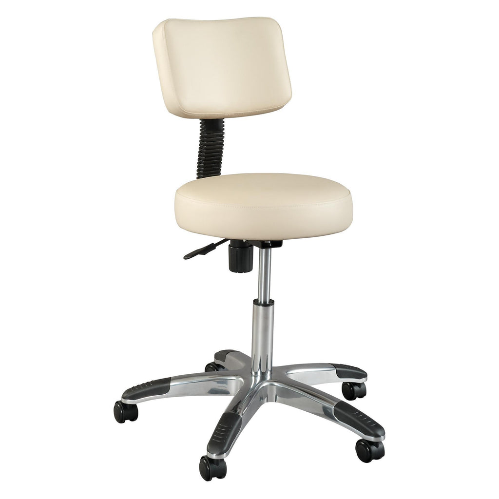 Treatment Chairs Silhouet-Tone Deluxe Round Air-Lift Stool w/Backrest