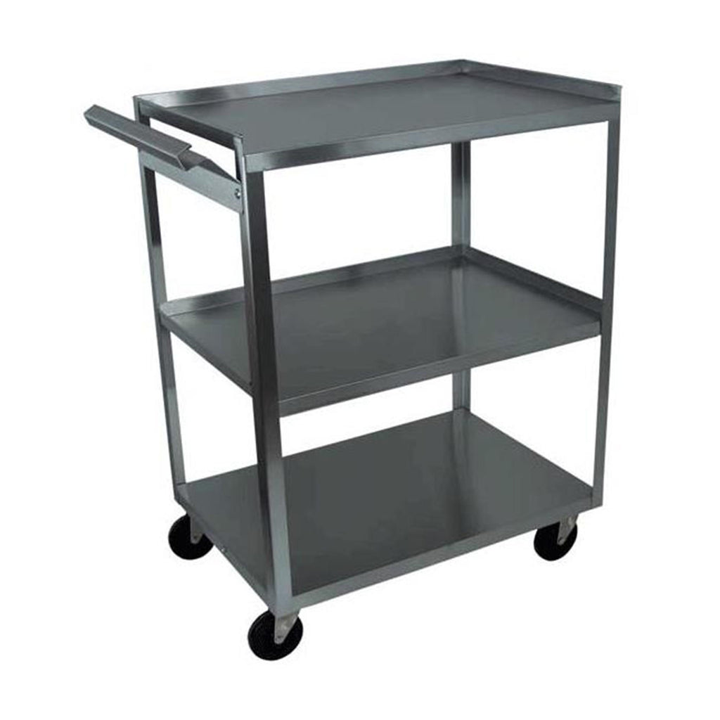 Trolleys & Carts Stainless Steel 3 Shelf Cart with Handle