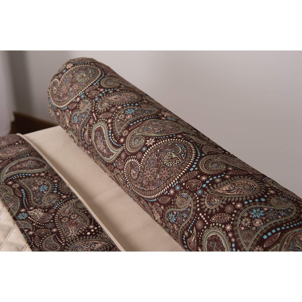 White Sapphire Sposh Professional Paisley Bolster Cover