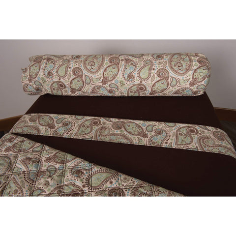 Image of White Sapphire Sposh Professional Paisley Bolster Cover