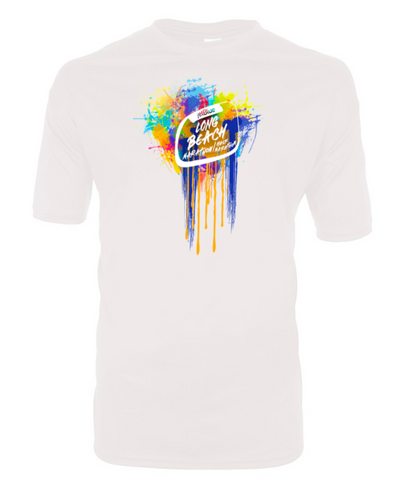 Long Beach Marathon 2019 Color Splash Tee