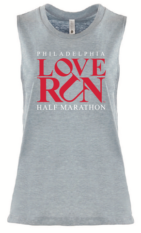 Women's Casual Tank: Philadelphia Love Run