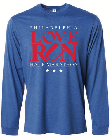 Performance Long Sleeve, Unisex Fit: Philadelphia Love Run