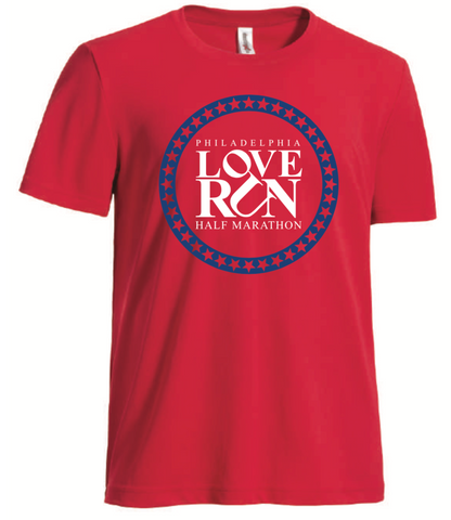 Performance Tee, Unisex: Philadelphia Love Run