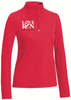 Women's Red 1/4 Zip: Philadelphia Love Run