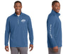 Surf City Sundown: 1/4 Zip Performance Top, Men's
