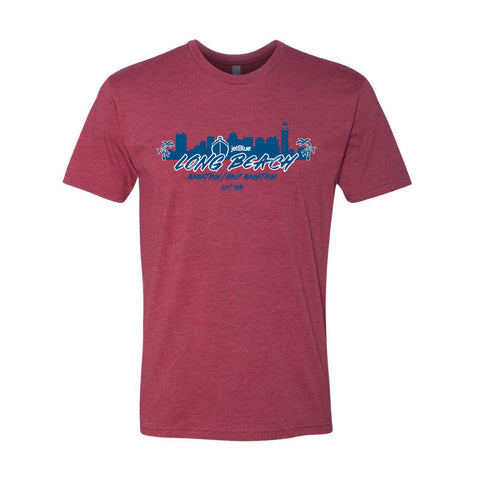 Long Beach Men's Cardinal Cityscape Tee