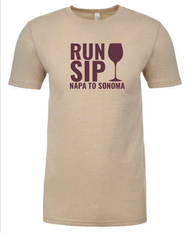 Run.Sip. Napa to Sonoma Tee