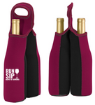 Run. Sip. Napa to Sonoma Wine Bottle Caddy