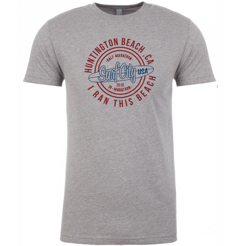 Surf City Marathon Official 2019 Venue Tee - Men's Grey