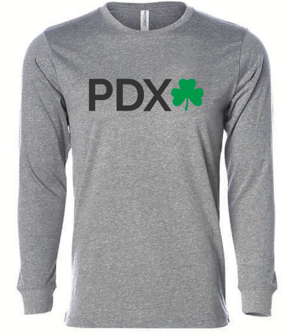 Shamrock Run Portland: Unisex Performance Long Sleeve Tee