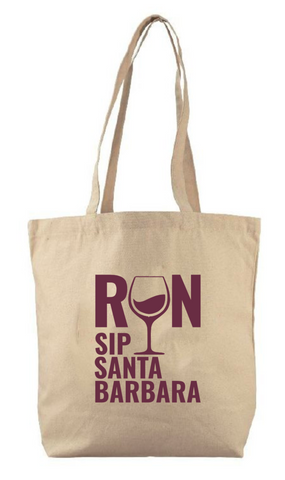 Run.Sip. Santa Barbara Tote Bag
