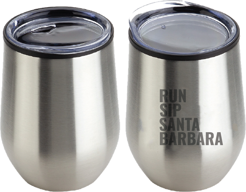 Run.Sip. Santa Barbara Wine Goblet