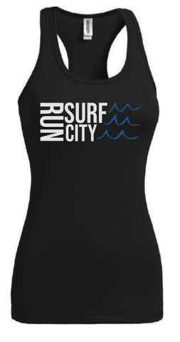 Surf City Marathon 2020 Women's Performance Tank - Black