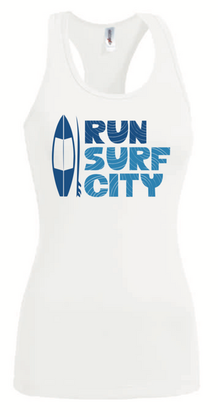 Surf City Marathon 2020 Women's Performance Tank - White