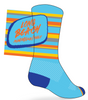 Long Beach Socks: Blue