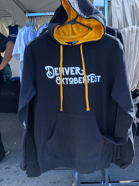 Oktoberfest Black and Gold Hoodie