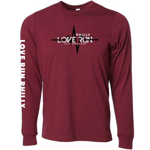 Philadelphia Love Run Pulse Long Sleeve Tee - Men's