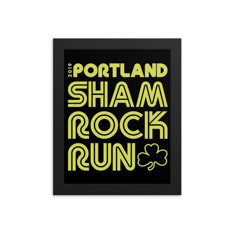 Portland Shamrock Run 2019 Official Event Framed Poster