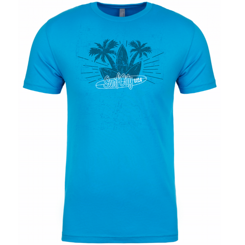 Surf City Marathon 2019 Palm Tree Tee - Men's