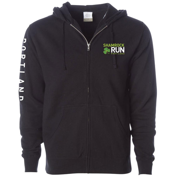 Portland Shamrock Run 2019 Full Zip Hoodie - Unisex