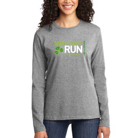 Portland Shamrock Run 2019 Long Sleeve Tee - Women's
