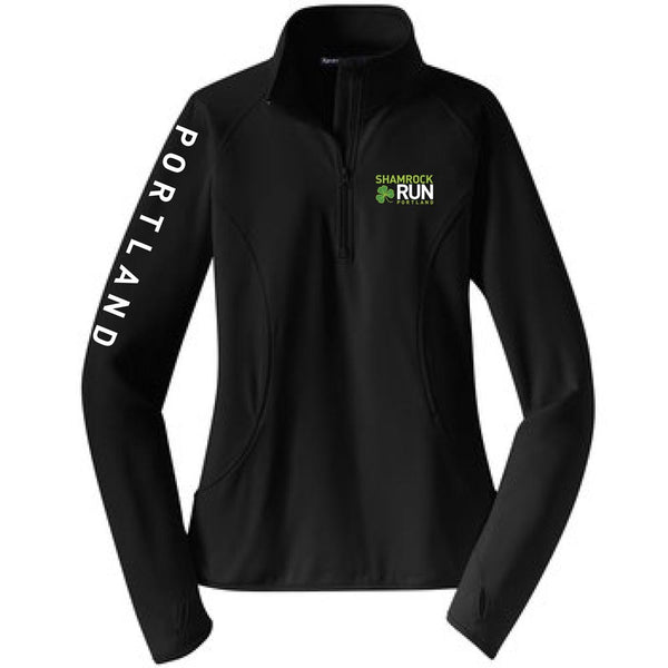 Portland Shamrock Run 2019 Official Logo Zip - Women's