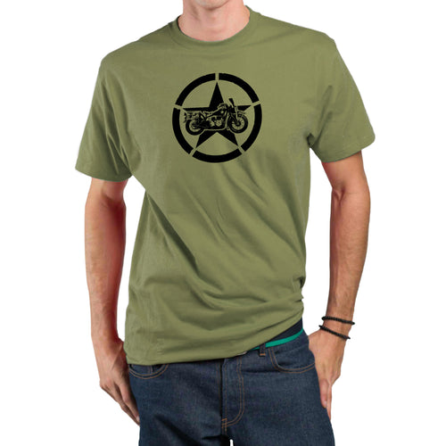 Army Star Mens/Unisex Motorcycle Biker T-shirt