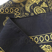 Load image into Gallery viewer, Large Black & Yellow Floral Paisley Bandana