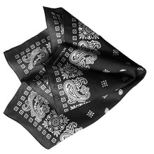 Load image into Gallery viewer, Black & White Square Border Bandana