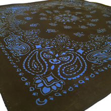 Load image into Gallery viewer, Black & Blue Cowboy Bandana