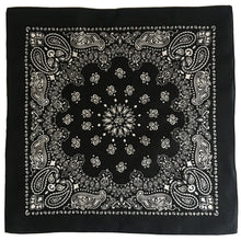 Load image into Gallery viewer, Black & White Cowboy Bandana