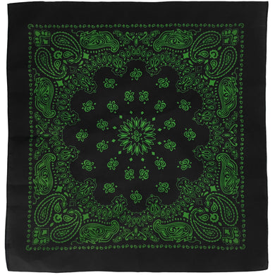 Black & Green Cowboy Bandana