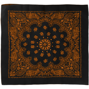 Black and orange bandana whole view