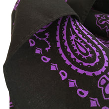 Load image into Gallery viewer, Purple cowboy bandana hemmed edge