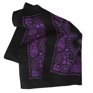 Black and purple bandana folded