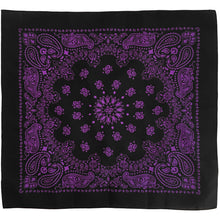 Load image into Gallery viewer, Purple bandana paisley print whole pattern