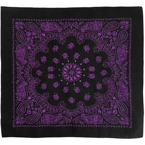 Purple bandana paisley print whole pattern