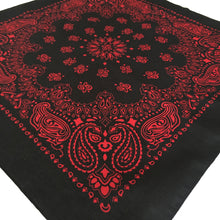 Load image into Gallery viewer, Black & Red Cowboy Bandana