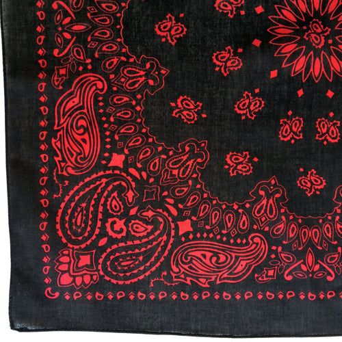 Black & Red Cowboy Bandana