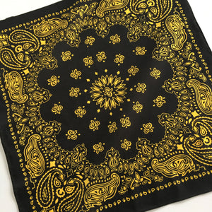 Black & Yellow Cowboy Bandana