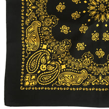 Load image into Gallery viewer, Black & Yellow Cowboy Bandana