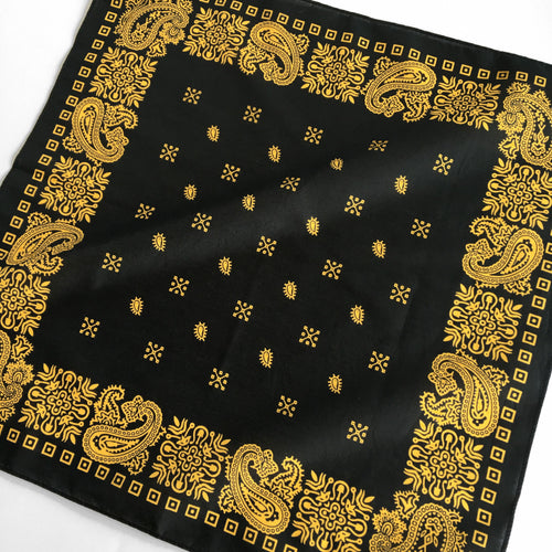 Black & Yellow Square Border Bandana