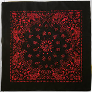 Large Black & Red Cowboy Bandana