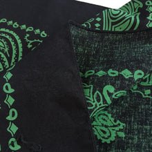 Load image into Gallery viewer, Large Black & Green Cowboy Bandana