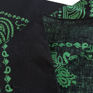Large Black & Green Cowboy Bandana