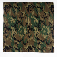 Load image into Gallery viewer, Extra Large Woodland Camo Bandana