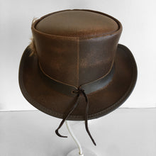 Load image into Gallery viewer, Overland Steampunk Victorian Marlow Leather Top Hat