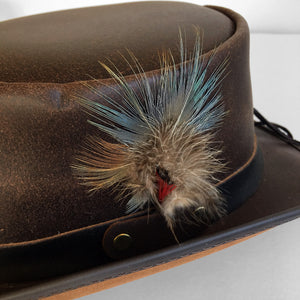 Overland Steampunk Victorian Marlow Leather Top Hat